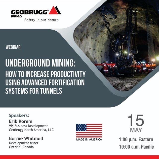 Yeraltı Madenciliği: Tünel Destekleme konulu web seminerimize davetlisiniz!